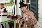 "Arkansas, AR, USA, Old Washington State Park, Civil War Weekend. ""Prairie County Avengers"" ? a Southern heritage band"