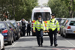 June 5, 2017 - London, London, UK - LONDON, UK.  A police cordon and police activity at a residential house in Caledon Road in Newham.  Police are believed to have carried out a raid at an address in Caledon Road this morning in connection with the London Bridge terror attacks. (Credit Image: © Vickie Flores/London News Pictures via ZUMA Wire)