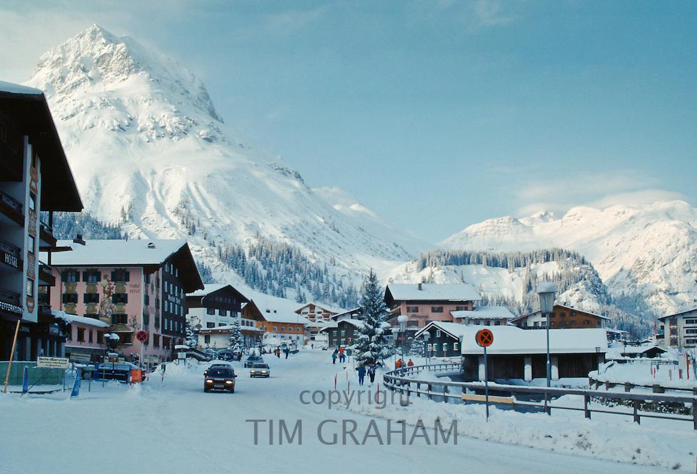 Ski resort town of Lech in the Austrian Alps, Austria