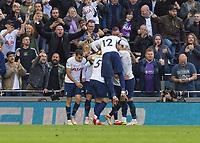 Football - 2021 / 2022 Premier League - Tottenham Hotspur vs Aston Villa - Tottenham Hotspur Stadium - Sunday 3rd October 2021<br /> <br /> Tottenham players celebrate after scoring the winning goal <br /> <br /> COLORSPORT/DANIEL BEARHAM
