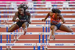 July 20, 2018 - Monaco, France - 100 metres haies feminin - Dawn Harper Nelson (Etat Unis) - Yanique Thompson  (Credit Image: © Panoramic via ZUMA Press)