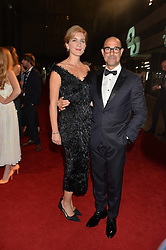 STANLEY TUCCI and FELICITY BLUNT at the GQ Men of The Year Awards 2016 in association with Hugo Boss held at Tate Modern, London on 6th September 2016.