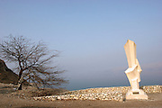 Israel, Kibbutz Ein Gedi, A monument in memory of soldiers who died during battles in the Negev. The Israeli memorial day (Yom Hazikaron) is observed on the 4th day of the month of Iyar of the Hebrew calendar, always preceding the next day's celebrations of Israel Independence Day.
