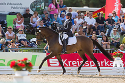 Mohimont Dominique (BEL) - El Corona Texel<br /> FEI World Dressage Championships for Young Horses<br /> Internationales Dressur- und Springfestival - Verden 2014<br /> © Dirk Caremans