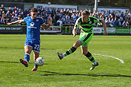 Forest Green Rovers Dayle Grubb(8) shoots at goal during the EFL Sky Bet League 2 match between Forest Green Rovers and Chesterfield at the New Lawn, Forest Green, United Kingdom on 21 April 2018. Picture by Shane Healey.