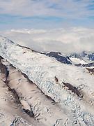 Aerial view of the north flank of Iliamna Volcano. Lake Clark National Park, Alaska.