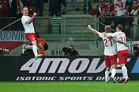 Football - World Cup 2014 Qualifier - Poland vs. England<br /> Kamil Glik of Poland celebrates his equalising goal at the National Stadium, Warsaw
