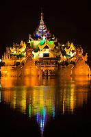 Karaweik Palace on Kan Daw Gyi Lake, Rangoon (Yangon)