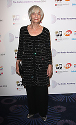 SHEILA HANCOCK arrives for the Radio Academy Awards, London, United Kingdom. Monday, 12th May 2014. Picture by i-Images