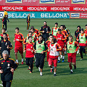 Galatasaray's players during their training session at the Jupp Derwall training center, Thursday, January 13, 2010. Photo by TURKPIX