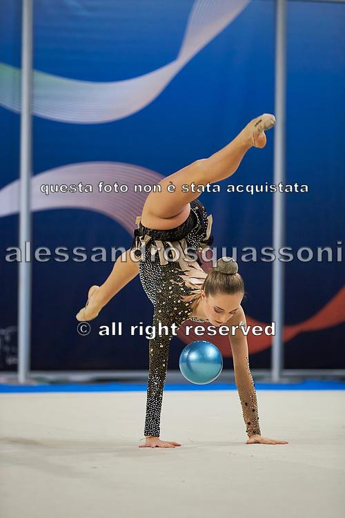Sophia Nocentini from Terranuova team during the Italian Rhythmic Gymnastics Championship in Padova, 25 November 2017.