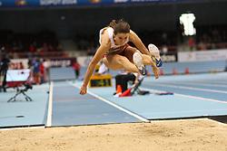 07.03.2014, Ergo Arena, Sopot, POL, IAAF, Leichtathletik Indoor WM, Sopot 2014, Tag 1, im Bild Anna Jagaciak (POL) // Anna Jagaciak (POL) during day one of IAAF World Indoor Championships Sopot 2014 at the Ergo Arena in Sopot, Poland on 2014/03/07. EXPA Pictures © 2014, PhotoCredit: EXPA/ Newspix/ Adam Jastrzebowski<br /> <br /> *****ATTENTION - for AUT, SLO, CRO, SRB, BIH, MAZ, TUR, SUI, SWE only*****