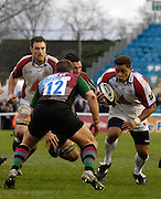 Twickenham, GREAT BRITAIN, Bristols, Josh TAUMALOLO,  attachs, during the Guinness Premieship match, NEC Harlequins vs Bristol Rugby, at the Twickenham Stoop Stadium, England, on Sat 24.02.2007  [Photo, Peter Spurrier/Intersport-images].....