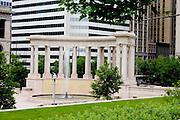 Colonnade and fountain Millennium Monument in the Millennium Park. Chicago Illinois USA