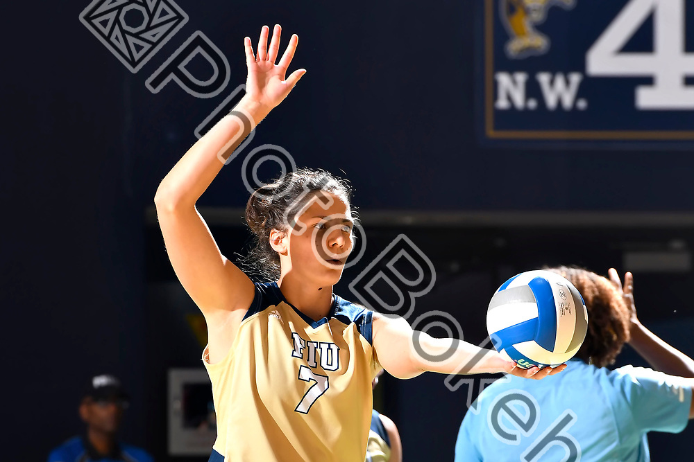 2018 September 23 - FIU's Emma Erteltova (7). Florida International University defeated Marshall, 3-0, at Ocean Bank Convocation Center, Miami, Florida. (Photo by: Alex J. Hernandez / photobokeh.com) This image is copyright by PhotoBokeh.com and may not be reproduced or retransmitted without express written consent of PhotoBokeh.com. ©2018 PhotoBokeh.com - All Rights Reserved