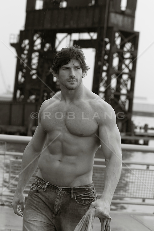 muscular man in New York City