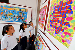 June 22, 2017 - Weifang, Weifang, China - Weifang, CHINA-June 22 2017: (EDITORIAL USE ONLY. CHINA OUT)..A painting exhibition is held in Weifang, east China's Shandong Province, June 22nd, 2017. (Credit Image: © SIPA Asia via ZUMA Wire)