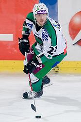 Damjan Dervaric (HDD Tilia Olimpija, #23) during ice-hockey match between HDD Tilia Olimpija and EHC Liwest Black Wings Linz in 19th Round of EBEL league, on November 7, 2010 at Hala Tivoli, Ljubljana, Slovenia. (Photo By Matic Klansek Velej / Sportida.com)
