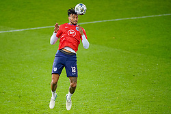 LEUVEN, BELGIUM - Sunday, November 15, 2020: England's Tyrone Mings during the pre-match warm-up before the UEFA Nations League Group Stage League A Group 2 match between England and Belgium at Den Dreef. (Pic by Jeroen Meuwsen/Orange Pictures via Propaganda)