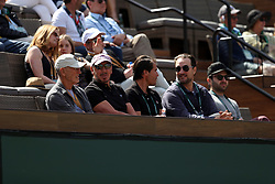 INDIAN WELLS, CALIFORNIA - MARCH 09:  Larry Ellison who is a co-founder and the executive chairman and chief technology officer of Oracle Corporation and actress Elisabeth Shue attend  the men's singles second round match on day six of the BNP Paribas Open at the Indian Wells Tennis Garden on March 09, 2019 in Indian Wells, California..People: Larry Ellison, Elisabeth Shue. (Credit Image: © SMG via ZUMA Wire)