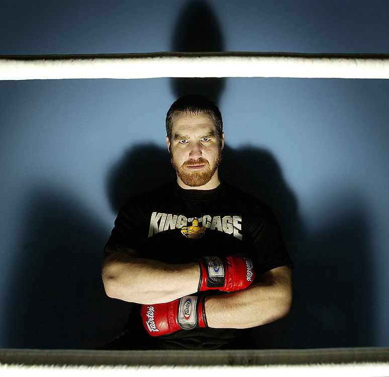 King of the Cage fighter Craig 'Farmer' Brown, 30, is seen at FIT MMA on Scott Street in Ottawa on Jan 7, 2007. Farmer will be fighting in the Canadian light heavyweight title at the King of the Cage event on Jan 20th in Gatineau..(Ottawa Sun Photo By Sean Kilpatrick)..
