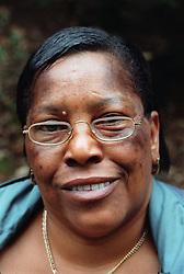 Portrait of woman smiling,
