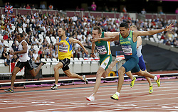 Brazil's Mateus Evangelista Cardoso (right) wins the Men's 100m T37 Final during day seven of the 2017 World Para Athletics Championships at London Stadium.