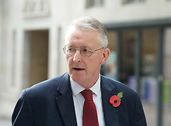 BBC, Broadcasting House, London, Great Britain <br /> 29th October 2017 <br /> <br /> Hilary Benn MP <br /> arrives for Sunday Politics <br />  <br /> <br /> Photograph by Elliott Franks <br /> Image licensed to Elliott Franks Photography Services