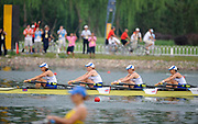 Shunyi, CHINA.  GBR W4X, Bow, Annie VERNON, Debbie FLOOD, Frances HOUGHTON and katherine GRAINGER,  winning the Silver  medal at the 2008 Olympic Regatta, Shunyi Rowing Course.  Sun 17.08.2008.  [Mandatory Credit: Peter SPURRIER, Intersport Images