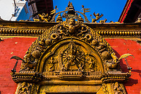 The Golden Gate of the Palace of 55 Windows, Durbar Square, Bhaktapur, Kathmandu Valley, Nepal.