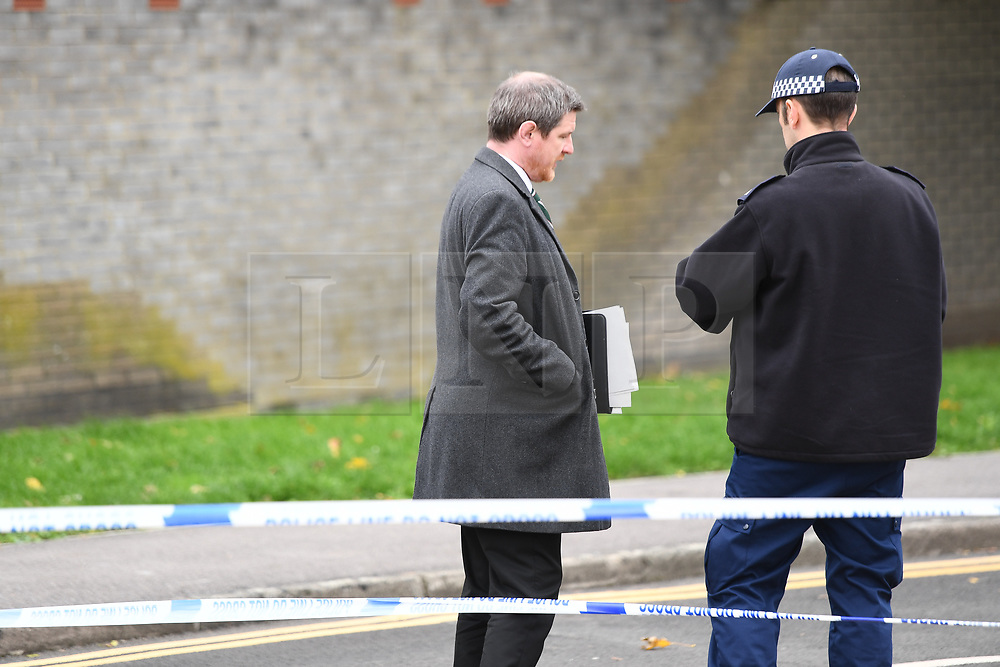 ©Licensed to London News Pictures; 06/10/2020, London UK; Met Police Launch a murder investigation in Ilford, East London after a male in his thirties was found in Southdown Crescent at around 9.30pm with stab wounds. He was declared dead at the scene. Photo credit : Steve Poston/LNP