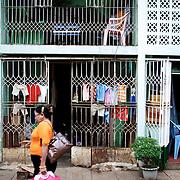 May 19, 2013 - Yangon, Myanmar: Clothing is seen drying in a residential neighbourhood in central Yangon. (Paulo Nunes dos Santos/Polaris)