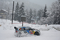 MOTORSPORT - WORLD RALLY CAR CHAMPIONSHIP 2014 - MONTE CARLO RALLY  - MONACO / GAP / MONACO 16 TO 19/01/2014 - PHOTO: ALEXANDRE GUILLAUMOT / DPPI<br /> 09	VOLKSWAGEN MOTORSPORT II (DEU) / MIKKELSEN ANDREAS MARKKULA MIKKO - (NOR FIN) / VOLKSWAGEN POLO R - ACTION