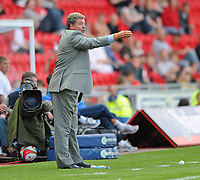 John Toshack manager of Wales<br /> Wales vs Estonia<br /> International Friendly, Parc y Scarlets, Llanelli, Wales, UK<br /> 29/05/2009. Credit Colorsport/Dan Rowley
