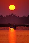 Fishing at sunrise - Mississippi.