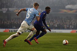 February 21, 2019 - London, Greater London, United Kingdom - Soren Rieks chases down Callum Hudson-Odoi during UEFA Europa League Round of 32 2nd Leg between Chelsea and Malmo FF at Stamford Bridge stadium, London, England on 21 Feb 2019. (Credit Image: © Action Foto Sport/NurPhoto via ZUMA Press)