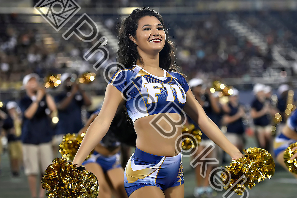 2016 September 24 - FIU Golden Dazzlers performing during halftime at Ocean Bank field, Miami, Florida. (Photo by: Alex J. Hernandez / photobokeh.com) This image is copyright by PhotoBokeh.com and may not be reproduced or retransmitted without express written consent of PhotoBokeh.com. ©2016 PhotoBokeh.com - All Rights Reserved
