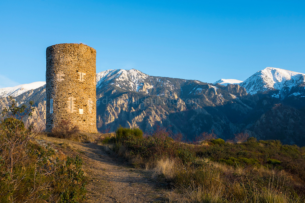 Tour de Goa, signal tower in the Pyrenees, near the Canigou mountain.