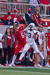NORMAL, IL - September 04: TreShawn Watson and Trey Mason(DB) struggle to catch a pass during a college football game between the Bulldogs of Butler University and the ISU (Illinois State University) Redbirds on September 04 2021 at Hancock Stadium in Normal, IL. (Photo by Alan Look)