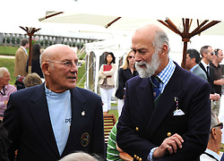 Left to right, SIR STIRLING MOSS and HRH PRINCE MICHAEL OF KENT  at the Cartier Style et Luxe, the Goodwood Festival of Speed, West Sussex on 13th July 2008.<br /> <br /> NON EXCLUSIVE - WORLD RIGHTS