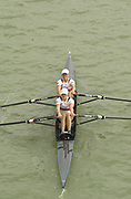 Seville, Andalusia, SPAIN<br /> <br /> 2002 World Rowing Championships - Seville - Spain Sunday 15/09/2002.<br /> <br /> Rio Guadalquiver Rowing course<br /> <br /> GER W2X Madalena Schmude and Christine Huth.<br /> <br /> [Mandatory Credit:Peter SPURRIER/Intersport Images]