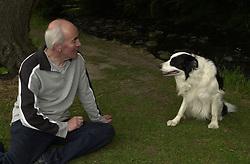 Eddie Sander with his Dogs Jackson and Inka<br /><br />18 June 2004<br /><br />Copyright Paul David Drabble<br /> [#Beginning of Shooting Data Section]<br />Nikon D1 <br /> Focal Length: 25mm<br /> Optimize Image: <br /> Color Mode: <br /> Noise Reduction: <br /> 2004/06/18 10:20:55<br /> Exposure Mode: Programmed Auto<br /> White Balance: Auto<br /> Tone Comp: Normal<br /> JPEG (8-bit) Fine<br /> Metering Mode: Spot<br /> AF Mode: AF-S<br /> Hue Adjustment: <br /> Image Size:  2000 x 1312<br /> 1/200 sec - F/7.1<br /> Flash Sync Mode: Front Curtain<br /> Saturation: <br /> Color<br /> Exposure Comp.: 0 EV<br /> Auto Flash Mode: External<br /> Sharpening: Normal<br /> Lens: 17-35mm F/2.8-4<br /> Sensitivity: ISO 200<br /> Image Comment: <br /> [#End of Shooting Data Section]