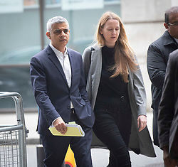 Sadiq Khan <br /> Mayor of London arrives at the BBC for Sunday Politics at the BBC Broadcasting House, London, Great Britain <br /> 7th April 2019 <br /> <br /> Sadiq Khan <br /> Mayor of London arrives at the BBC for Sunday Politics <br /> Photograph by Elliott Franks