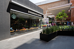 Starbucks coffee shop is seen in the middle of a big commercial centre called Parque Delta in the city. Photo credit should read: Lexie Harrison-Cripps/EMPICS Entertainment
