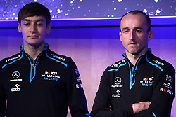 Drivers George Russell and Robert Kubica during the Williams 2019 livery launch at Williams Conference Centre, Grove.