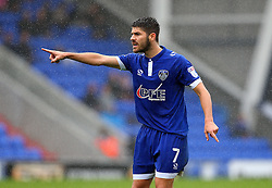 Ryan Flynn of Oldham Athletic points - Mandatory by-line: Matt McNulty/JMP - 03/09/2016 - FOOTBALL - Sportsdirect.com Park - Oldham, England - Oldham Athletic v Shrewsbury Town - Sky Bet League One