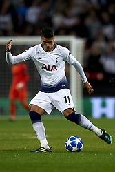 October 3, 2018 - London, England, United Kingdom - Erik Lamela of Tottenham goes passed during the Group B match of the UEFA Champions League between Tottenham Hotspurs and FC Barcelona at Wembley Stadium on October 03, 2018 in London, England. (Credit Image: © Jose Breton/NurPhoto/ZUMA Press)