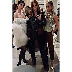 """Shermine Shahrivar releases a photo on Instagram with the following caption: """"Charly\u2019s Angels \u2022\n\u2022\n\u2022\n\u2022  #aboutlastnight #grazia #casual #Wednesday \ud83e\udd73  #lanamuellercouture  #bfw #grazia"""". Photo Credit: Instagram *** No USA Distribution *** For Editorial Use Only *** Not to be Published in Books or Photo Books ***  Please note: Fees charged by the agency are for the agency's services only, and do not, nor are they intended to, convey to the user any ownership of Copyright or License in the material. The agency does not claim any ownership including but not limited to Copyright or License in the attached material. By publishing this material you expressly agree to indemnify and to hold the agency and its directors, shareholders and employees harmless from any loss, claims, damages, demands, expenses (including legal fees), or any causes of action or allegation against the agency arising out of or connected in any way with publication of the material."""