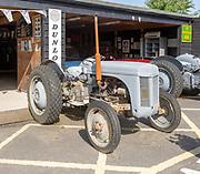 Old Massey Ferguson tractors on display at Stonham Barns, Suffolk, England, UK