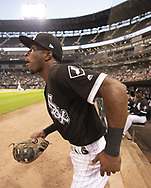 CHICAGO - SEPTEMBER 11:  Tim Anderson #7 of the Chicago White Sox runs out onto the field prior to the game against the Minnesota Twins on September 11, 2019 at Guaranteed Rate Field in Chicago, Illinois.  (Photo by Ron Vesely)  Subject:   Tim Anderson